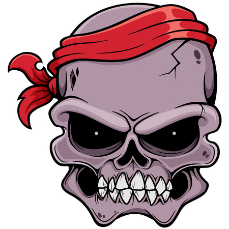 illustration of Skull pirate Vector