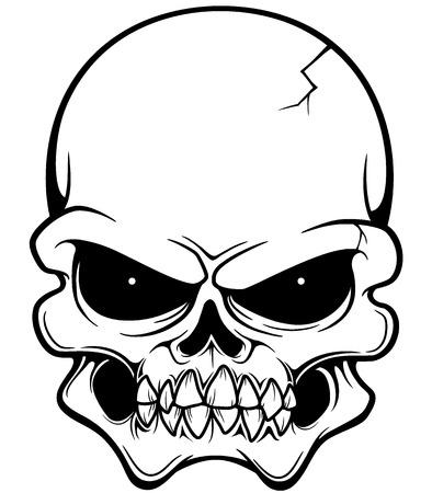 illustration of Skull Vector