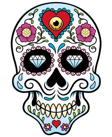 頭蓋骨のベクトル イラスト