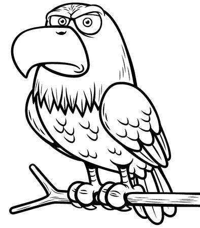 Ilustración De Dibujos Animados águila Ilustraciones Vectoriales ...