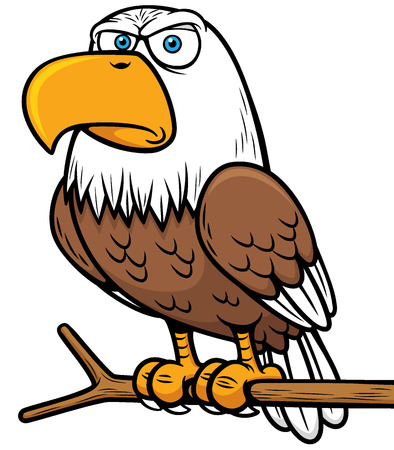 illustration of Cartoon eagle 일러스트