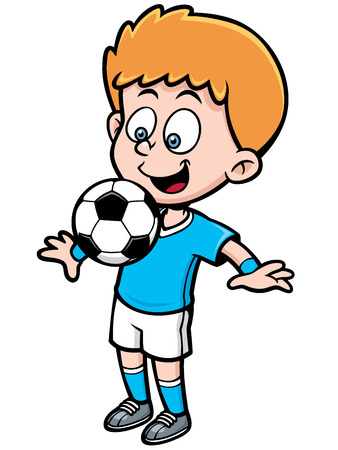 illustration of Soccer player Vector