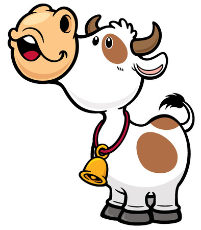 domestic animals: Vector illustration of Cartoon Cow Illustration