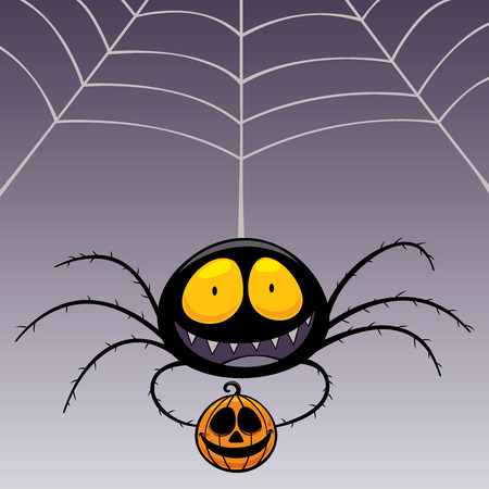 spider cartoon: Vector illustration of Spider