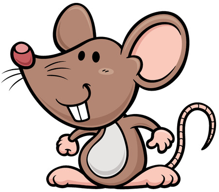Vector illustration of cartoon rat Vector