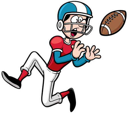 vector illustration of cartoon american football player royalty free