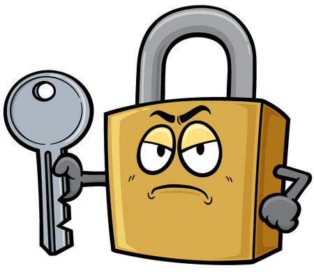 Vector illustration of Cartoon Padlock