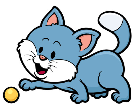 purring: Vector illustration of Cat cartoon Illustration