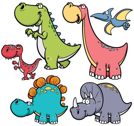 Ilustración vectorial de personajes de dibujos animados Dinosaurios Foto de archivo - 32099151