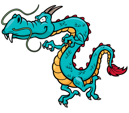 winged dragon: Vector illustration of Cartoon dragon Illustration