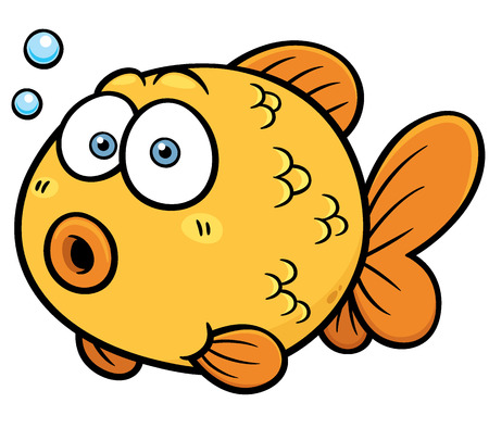 Vector illustration of Goldfish