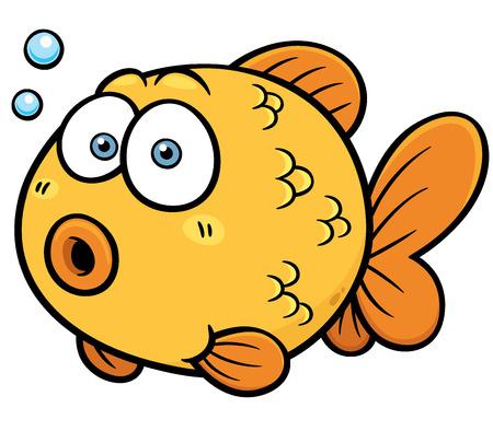 gold fish bowl: Vector illustration of Goldfish