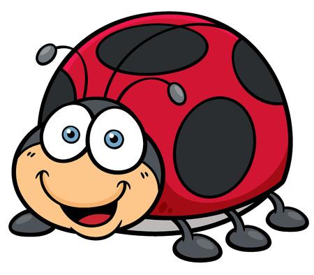 catarina caricatura: Ilustraci�n vectorial de dibujos animados Lady bug