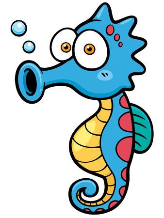 Vector illustratie van cartoon zeepaardje Stockfoto - 32308108