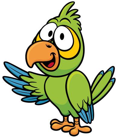 cartoon parrot: Vector illustration of cartoon parrot Illustration