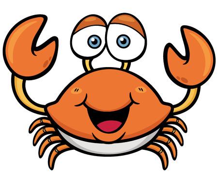 cangrejo caricatura: Ilustración vectorial de dibujos animados cangrejo