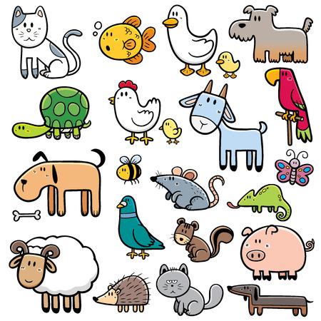 sheep dog: Vector Illustration of Cartoon animals