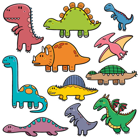 triceratops: Vector illustration of Dinosaurs cartoon characters