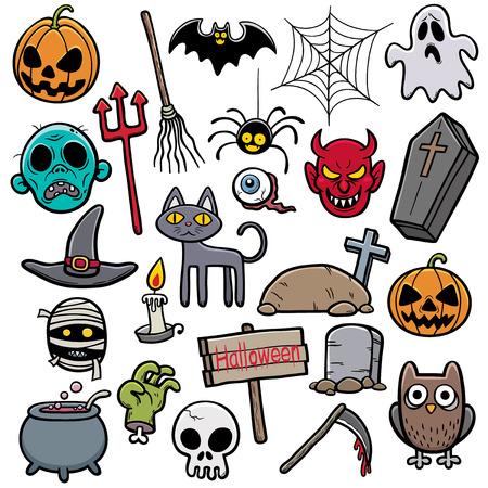 Vector Illustration of Halloween set Vector