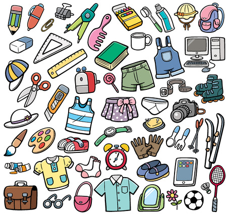 Vector Illustration of Different objects Vector