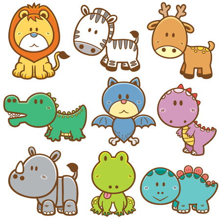 cartoon crocodile: Vector Illustration of Cartoon animals