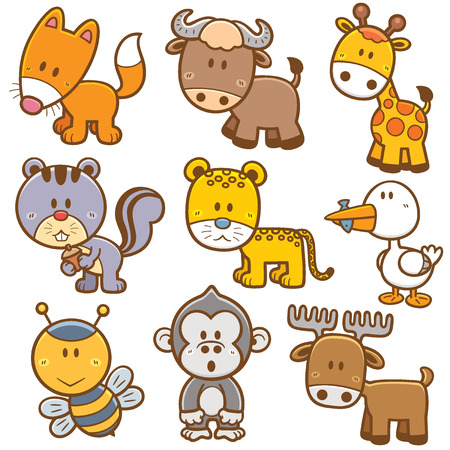 Vektor-Illustration von Animal cartoon Standard-Bild - 33118153