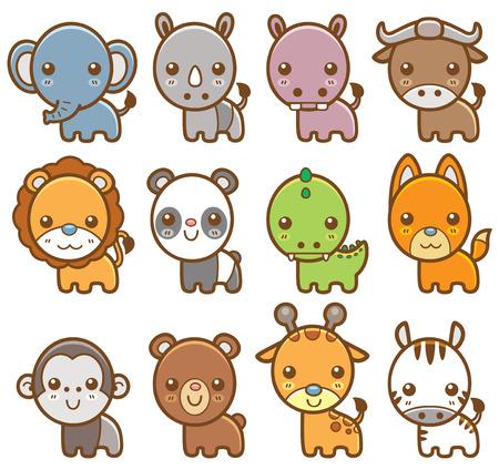 hipopotamo caricatura: Ilustraci�n vectorial de dibujos animados de animales Vectores