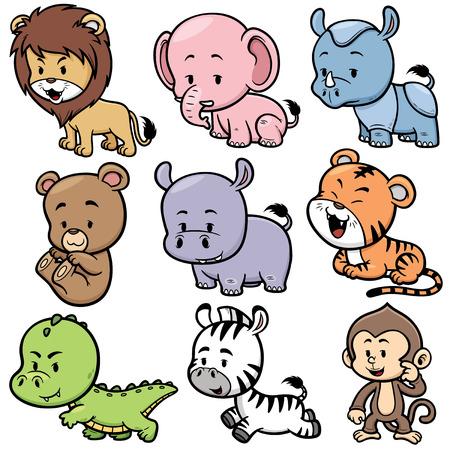 oso caricatura: Ilustraci�n vectorial de dibujos animados Animales