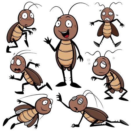 mosca caricatura: Ilustración del vector de la historieta de la cucaracha