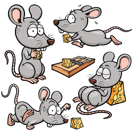 rat cartoon: Ilustración vectorial de rata de la historieta