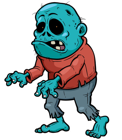 dientes caricatura: ilustraci�n de dibujos animados zombie Vectores