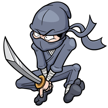 Vector illustration of Cartoon Ninja Vector