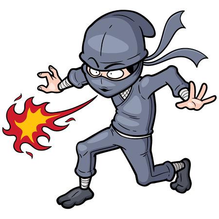 combative: Vector illustration of Cartoon Ninja