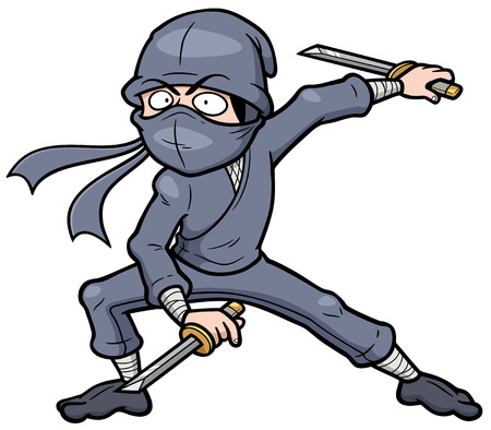 stealth: Vector illustration of Cartoon Ninja