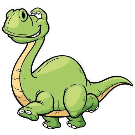 dinosaurio: Ilustraci�n vectorial de dinosaurio de la historieta