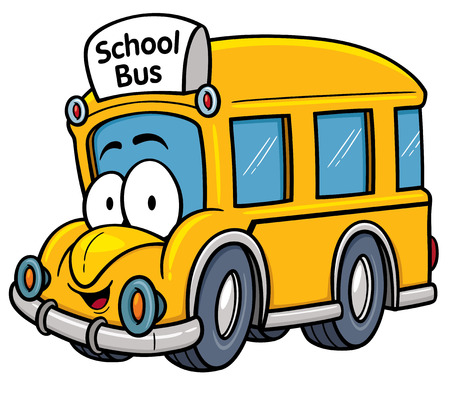 wheels: Vector illustration of School bus