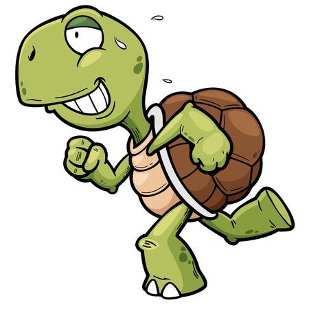 Vector illustration of Cartoon turtle