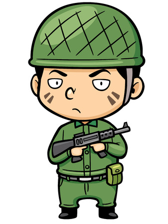 kiddies: illustration of Cartoon Soldier