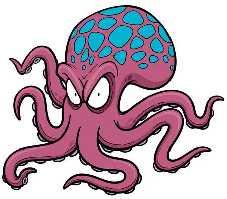 octopus: illustratie van het beeldverhaal octopus Stock Illustratie