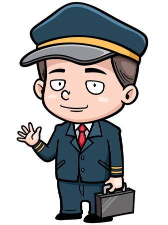 piloto: ilustraci�n de piloto de vuelo