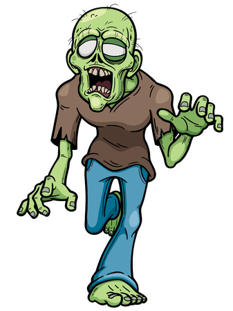 fear cartoon: illustration of Cartoon zombie Illustration