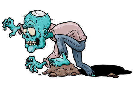 Ilustración vectorial de dibujos animados zombie Foto de archivo - 37233283