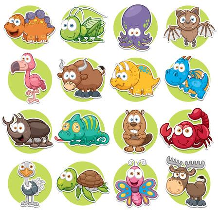 Vector illustration of Animals set Cartoon
