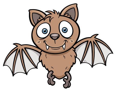 Vector illustratie van Cartoon vleermuis