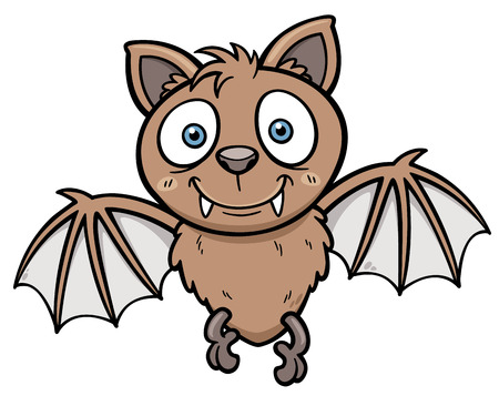 funny animals: Vector illustration of Cartoon bat