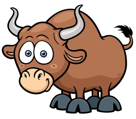 bullfighting: Vector illustration of cartoon Bull