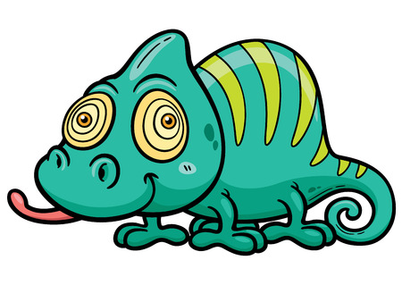 chamaeleo: Vector illustration of Cartoon Chameleon