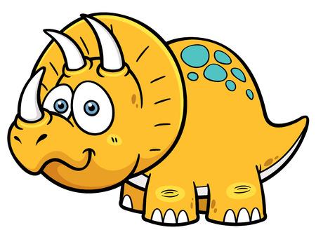 lagartija: Ilustraci�n vectorial de dinosaurio de la historieta