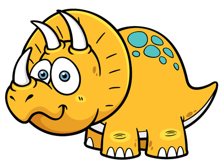cartoon dinosaur: Vector illustration of Cartoon dinosaur