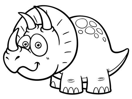 carboniferous: Vector illustration of Cartoon dinosaur - Coloring book Illustration